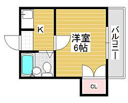 松南荘[2階]の間取り