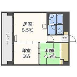 北海道札幌市豊平区平岸二条9丁目の賃貸マンションの間取り
