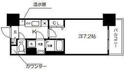 アスヴェル大阪城WEST2[2階]の間取り