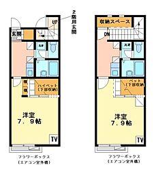兵庫県姫路市白浜町の賃貸アパートの間取り