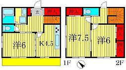 コーポ飯島[2階]の間取り