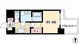 プレサンス錦プレミアム 6階1Kの間取り
