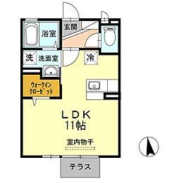 D−Room下黒田[1階]の間取り