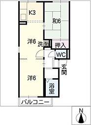プレジールマルト[1階]の間取り