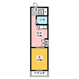 千代田ビルディング 3階1DKの間取り