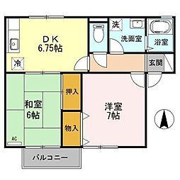 コーポダックス[2階]の間取り