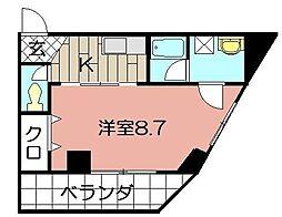 矢島ビル[305号室]の間取り