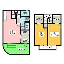 ぷらつとS・OKINO A[1階]の間取り