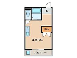 メゾンフラワー[2階]の間取り