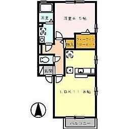 フローラハウス[102号室]の間取り