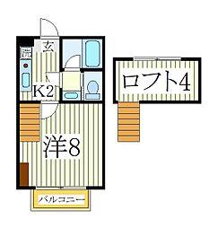 ユーフラット天王台[2階]の間取り
