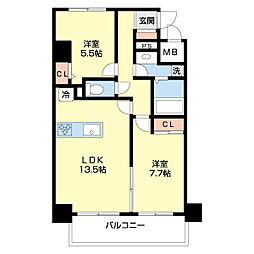 仮)ネオクレンツ川西 4階2LDKの間取り