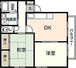 リヴェールYOSHIDA[2階]の間取り