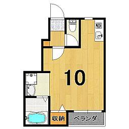 ランフォート天神川テラス 1階1Kの間取り