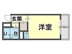 シャルマンフジ和泉大宮弐番館[1階]の間取り