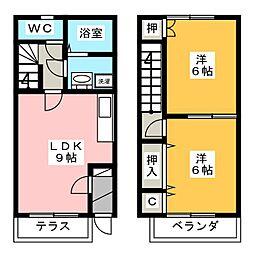 [テラスハウス] 愛知県丹羽郡大口町竹田3丁目 の賃貸【/】の間取り