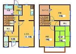 兵庫県神戸市西区水谷1丁目6-4(F)、6-5(G)、6-1(H)の賃貸アパートの間取り