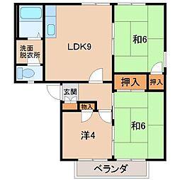 ジョイフル松島[2階]の間取り