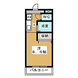 ボナール椥ノ辻[2階]の間取り