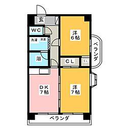 ロイヤルアサノ[1階]の間取り
