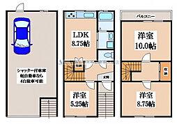 [一戸建] 大阪府大東市灰塚5丁目 の賃貸【/】の間取り