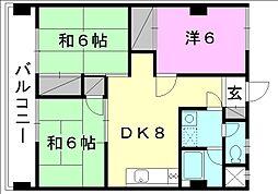 コンフォート桜 6[605 号室号室]の間取り