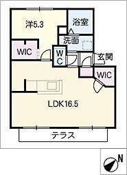 エコールビラA棟[1階]の間取り