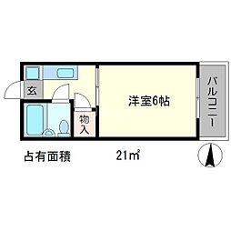 メゾンモナミ[2階]の間取り