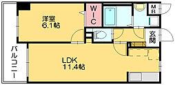 スカイシャトレ柚須[10階]の間取り