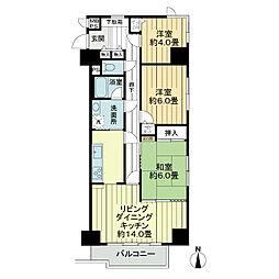 ライオンズマンション西小岩第2[4階]の間取り