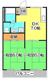 旭コーポラス[2階]の間取り