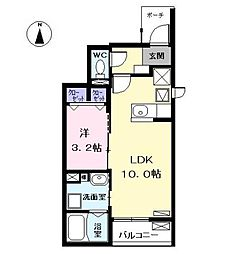 愛知県海部郡大治町大字堀之内の賃貸アパートの間取り