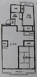 ハイツ雷電[3階]の間取り