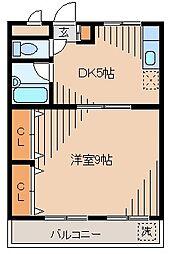 第一長谷川ビル[301kk号室]の間取り