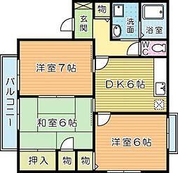 プレジール上吉田J[2階]の間取り