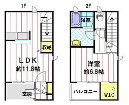 サンメゾンII B棟[1階]の間取り