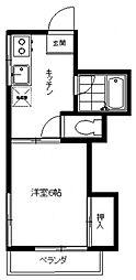 打川ハウス[101号室号室]の間取り