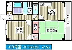 メゾンミチヨ[3階]の間取り