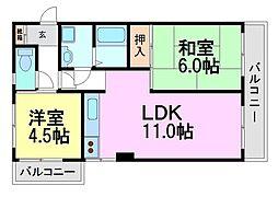アヴェニール高田[9階]の間取り