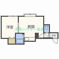 北海道札幌市東区北三十七条東2丁目の賃貸アパートの間取り
