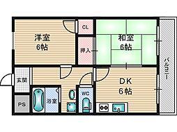 新大阪ロイヤルハイツ[4階]の間取り
