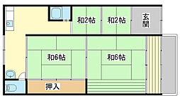 [一戸建] 兵庫県姫路市双葉町 の賃貸【兵庫県 / 姫路市】の間取り