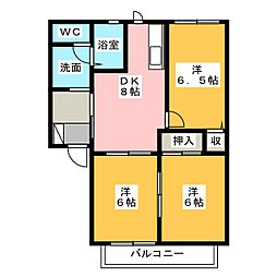 ガーデンハイツ下沼 E棟[2階]の間取り