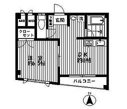 東京都江東区大島6丁目の賃貸マンションの間取り