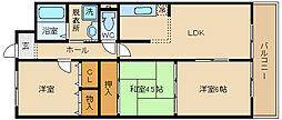 タウンコート 咲久良/サクラ[403号室]の間取り