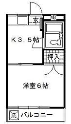 メゾン東洋2[2階]の間取り
