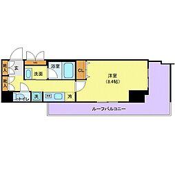 東京メトロ有楽町線 辰巳駅 徒歩9分の賃貸マンション 5階1Kの間取り