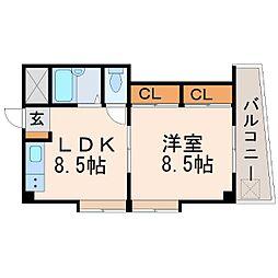 CoLaBo阪神西宮[4階]の間取り