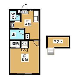 憲光荘III[1階]の間取り
