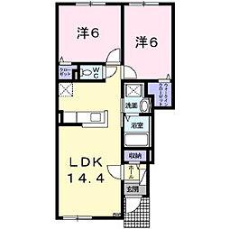 クレメント28[1階]の間取り